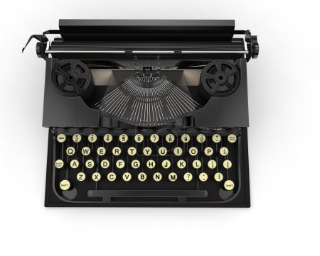 Old Black Typewriter