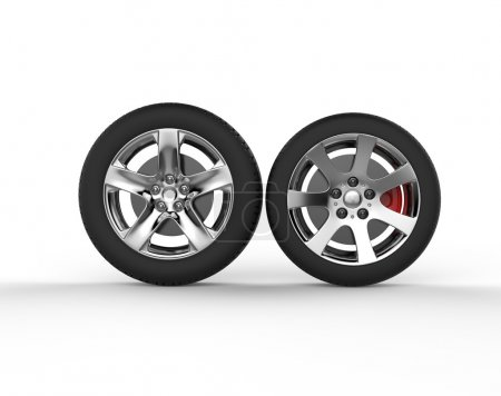 Car wheels - chrome rims