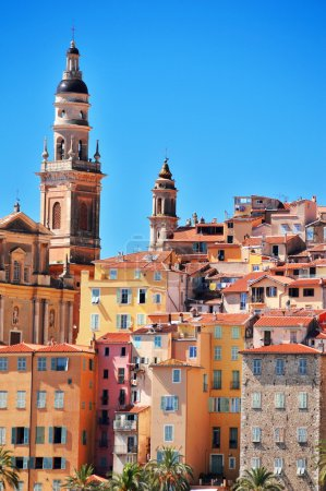 Photo for Old town architecture of Menton on French Riviera - Royalty Free Image