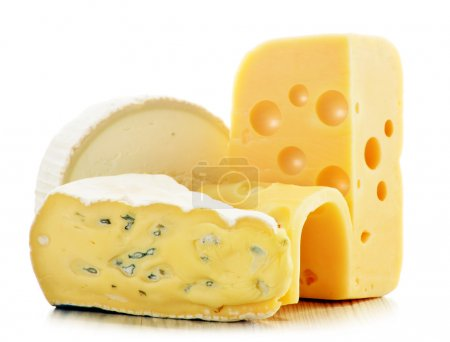 Photo for Different sorts of cheese isolated on white background - Royalty Free Image