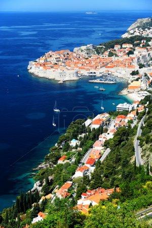 Aerial view of Dubrovnik, Croatia