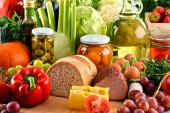 Složení s řadou ekologických potravin