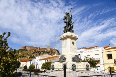Statue of Hernan Cortes, Mexico conqueror, Medellin, Spain