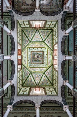 Typical decoration of the ceilings of tunisia