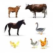Cow Calf brown vector Goose horse chicken goat