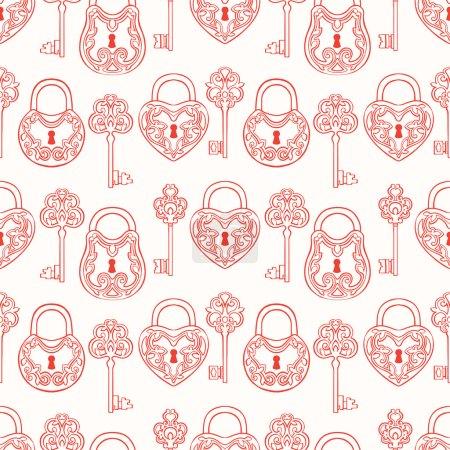 Seamless keys and locks