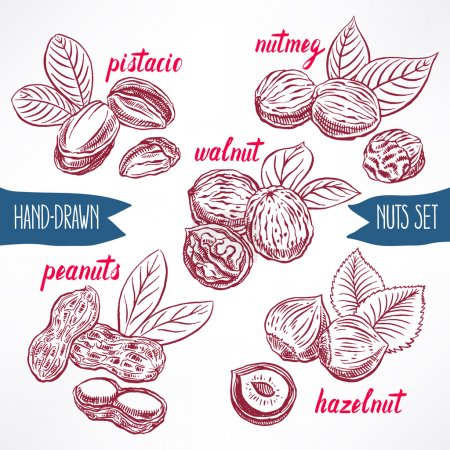 set with nuts