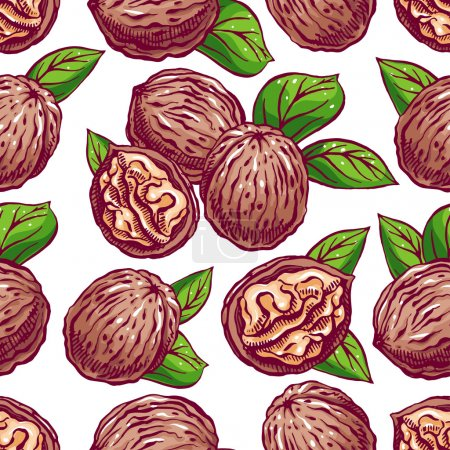 seamless background with walnuts - 2