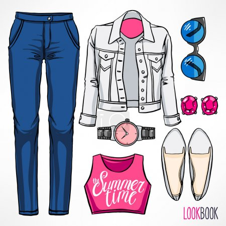 Woman's summer outfit - 2