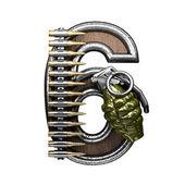 6 vojenské dopis. 3D obrázek