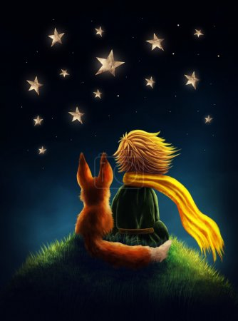 Photo for Little prince and the fox - Royalty Free Image