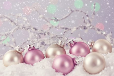 Pastel colored ornaments
