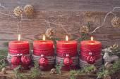Four christmas candle