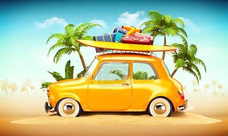 summer travel illustration