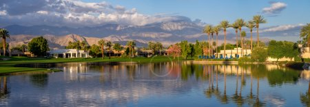 Luxury homes along a golf course in Palm Desert California
