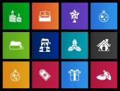 Christmas icons set in Metro style