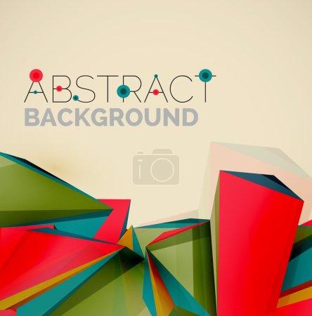 Foto de 3d formas geométricas en el aire. fondo abstracto. Diseño de presentación futurista de negocios o interfaz web o portada de aplicaciones. Composición universal - Imagen libre de derechos