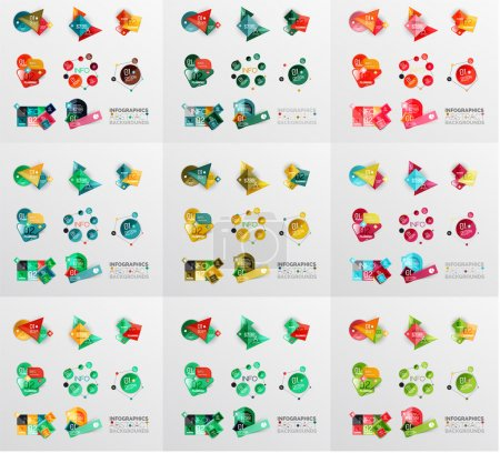 Geometric banners, templates, layouts