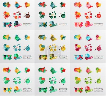 Photo pour Bannières géométriques, modèles et mises en page. Graphiques papier. Mega collection Compositions modernes - image libre de droit