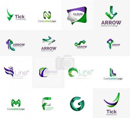 Set of universal company logo ideas,