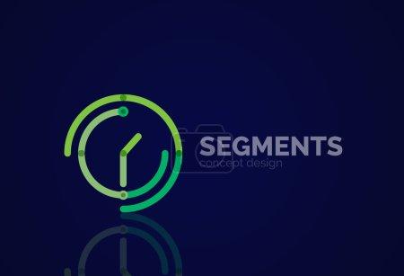 Outline minimal abstract geometric logo