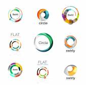 Sada různých kruhu loga
