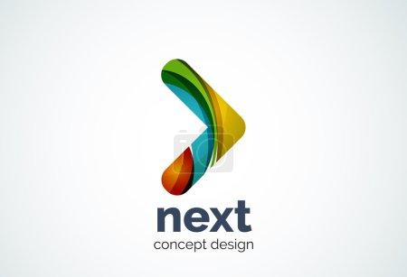 Arrow logo template, next or right concept
