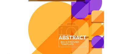Illustration for Clean minimal geometric abstract background with triangles and circles. Vector illustration for covers, banners, flyers and posters and other designs - Royalty Free Image
