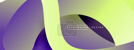 Illustration for Abstract overlapping lines and circles geometric background with gradient colors - Royalty Free Image