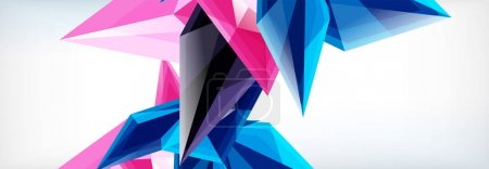 Illustration for Vector 3d triangles and pyramids abstract background for business or technology presentations, internet posters or web brochure covers - Royalty Free Image