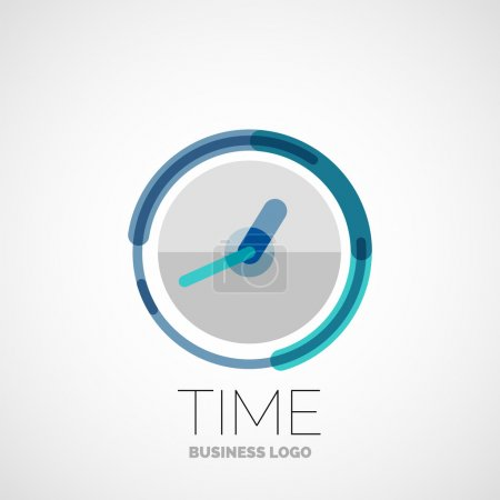 Clock, time company logo, business concept