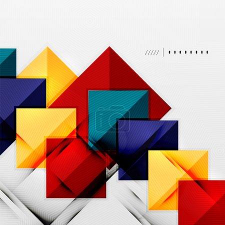 Geometric squares and rhombus futuristic template ...