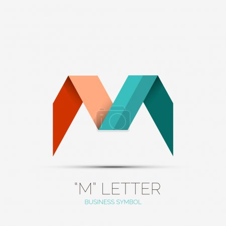 Illustration for M letter icon, company logo, business symbol concept - Royalty Free Image