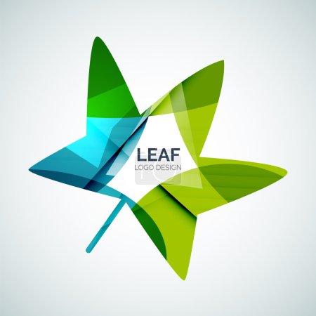 Illustration for Leaf logo, concept, branding logotype design - Royalty Free Image