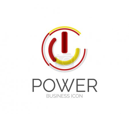 Illustration for Minimal line design logo, business icon, branding emblem - Royalty Free Image