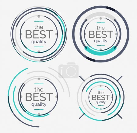 Illustration for Thin line neat design logo set, clean modern concept, premium quality stamp - Royalty Free Image
