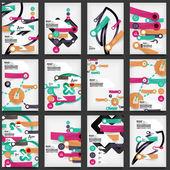 Sada letáky, brožury šablony návrhů