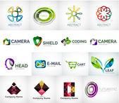 Abstraktní společnost logo kolekce