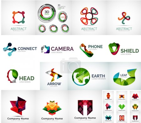 Abstract company logo vector collection - large se...