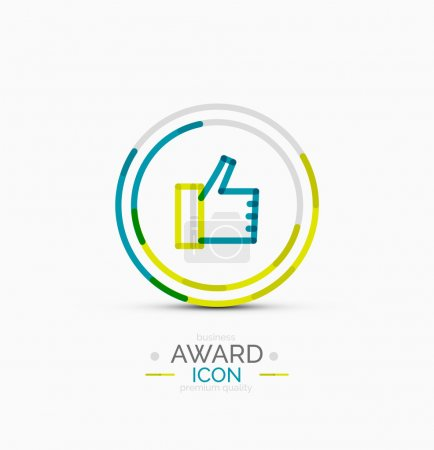 Thumb up icon, logo design