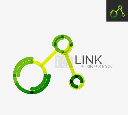 Insignia del diseño línea mínima, icono de conexión