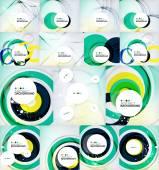 """Постер, картина, фотообои """"установлены цветные фоны кругов"""""""