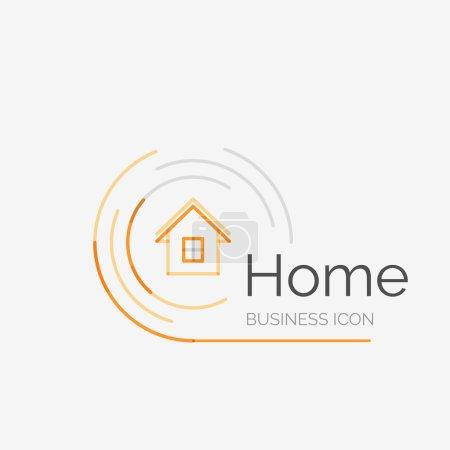 Illustration pour Thin line neat design logo, clean modern concept, home, house idea - image libre de droit
