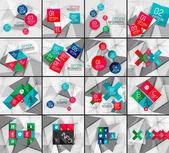 Sada podnikání geometrické možnost kroky infografika