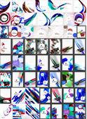 Vektorové mega kolekce abstraktní pozadí