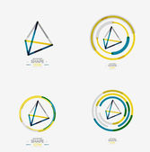 Pyramid shape line design