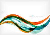 """Постер, картина, фотообои """"Зеленые и оранжевые линии современных абстрактный фон"""""""
