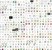 Vektorové abstraktní společnost loga mega kolekce