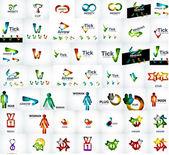 Vector universal mega set of company logos