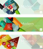 Moderní plochý design infographic nápisy